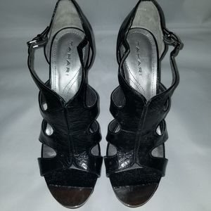 Tahari Black Patent Leather Heels